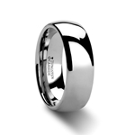 DOMINUS Domed Tungsten Carbide Ring - 4 - 12 mm