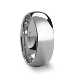 PETERSON Titanium Polished Finish Domed Men's Wedding Band - 8mm