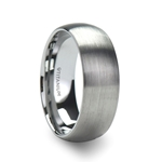 ERIS Men's Titanium Brushed Finish Domed Wedding Band - 6mm & 8mm