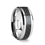 COLOSSEUM Titanium Wedding Ring with Black Carbon Fiber Inlay - 8 mm