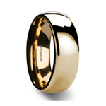 VANNA Traditional Domed Gold Plated Titanium Wedding Ring - 8mm