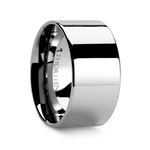 CHARLESTON Pipe Cut Polished Finish Tungsten Carbide Band - 12mm