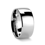 AUSTIN Domed Tungsten Carbide Ring with Polished Finish - 10mm