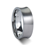 TUCSON Concave Tungsten Carbide Ring with Brushed Finish - 8mm