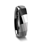 ETERNITY Multi Faceted Tungsten Carbide Ring - 4mm - 8mm