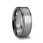 PALLAS Celtic Knot Laser Engraved Tungsten Wedding Ring 6mm - 10mm