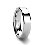 ATHENA 4mm Flat Tungsten Carbide Wedding Band