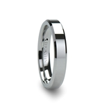 ROMA Tungsten Carbide Ring with Beveled Edges - 4mm & 6mm