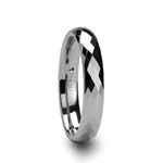 CELONA 288 Diamond Faceted Tungsten Carbide Ring - 4mm & 6mm