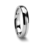 HERA Domed Tungsten Carbide Ring with Satin Stripe - 4mm & 6mm