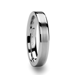 MILANA Flat Tungsten Ring with Brush Center Stripe - 4mm & 6mm