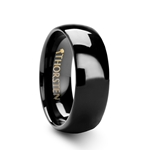 RAVEN Domed 4 - 12 mm Black Tungsten Wedding Ring