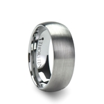 PERSEUS Brushed Finish Rounded Tungsten Carbide Ring - 2mm - 12mm