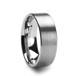 MERCURY Pipe Cut Brush Finish Tungsten Carbide Ring - 4mm - 12mm