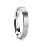 MESSALINA 4 mm Flat Brushed Finish Tungsten Carbide Wedding Band