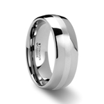 ALTHALOS Palladium Inlaid Domed Tungsten Ring 6 mm - 8 mm