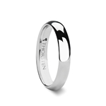 PLATINA Domed White Tungsten Wedding Band - 4 mm