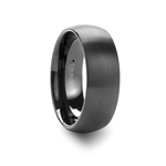 RAIDER Round Brush Finished Black Tungsten Carbide Ring- 4mm - 12mm