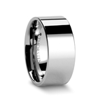 MELBOURNE Pipe Cut Tungsten Carbide Ring - 10 mm