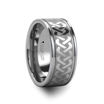McKINNEY Celtic Knot Laser Engraved Tungsten Wedding Ring Extra Wide - 10 mm
