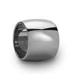 FRESNO Round Polished Finish Tungsten Carbide Ring - 20 mm