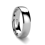 ARLINGTON Domed White Tungsten Ring for Men - 2mm - 12mm