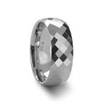 SCOTTSDALE 288 Diamond Faceted White Tungsten Ring - 4mm - 8mm