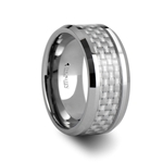 SPRINGFIELD Tungsten Carbide Ring with White Carbon Fiber Inlay - 10mm