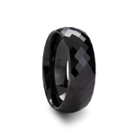 DRACO Black Ceramic Ring with 288 Diamond Facetes - 2mm - 8mm