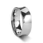 WASHINGTON Polish Finished Concave Tungsten Wedding Band 4 - 8mm