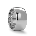 ATHERTON 12mm Domed Wide White Tungsten Wedding Band for Men
