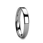 ADRIANA Pipe Cut White Tungsten Carbide Ring with Polished Finish - 4mm & 6mm