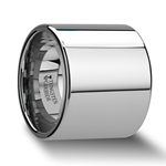 TEXAS Flat Pipe Cut Tungsten Carbide Ring with Polished Finish - 20mm