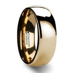 ORO Domed Gold Tungsten Wedding Ring - 4mm - 10mm