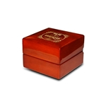 Engraved Mahogany Wood Ring Box Personalized Wooden Wedding Ring Box