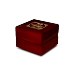 Engraved Wood Ring Box Cherry Personalized Wooden Wedding Box