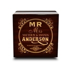 Engraved Wood Ring Box Chocolate Dark Wood Personalized Wooden Wedding Ring Box