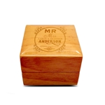Engraved Wood Ring Box Natural Tone Wood Personalized Wooden Wedding Ring Box