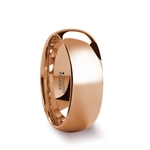 SOL Traditional Domed Rose Gold Plated Tungsten Carbide Wedding Ring - 4mm - 8mm