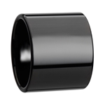 AXWELL Black Flat Pipe Cut Tungsten Carbide Ring with Polished Finish - 20 mm