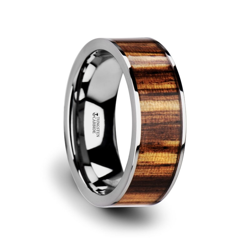 wedding rings pictures copan flat tungsten carbide ring with polished edges 1055