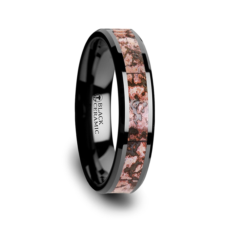 wedding and unique media inlay with band gane meteorite gibeon bone rings dinosaur mokume ring